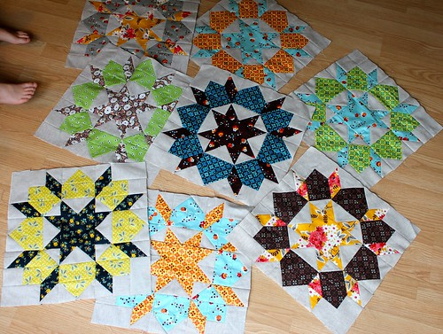 Swoon Blocks So Far (8 out of 25) | by CoraQuilts~Carla