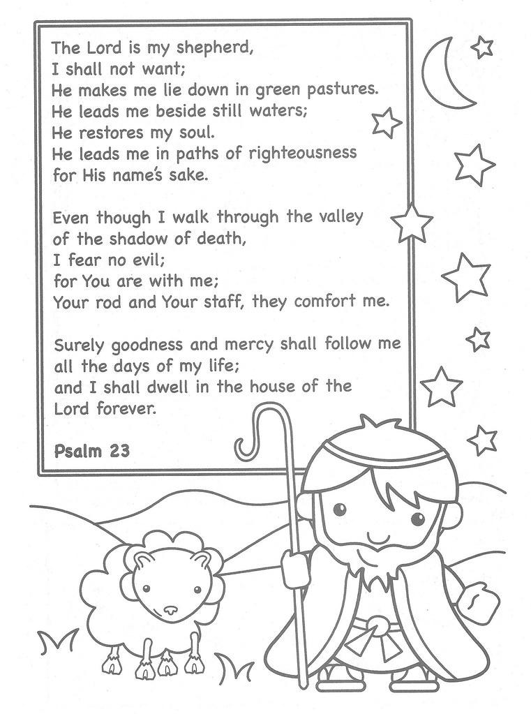 The Lord is My Shepherd Coloring Page | This coloring page i… | Flickr