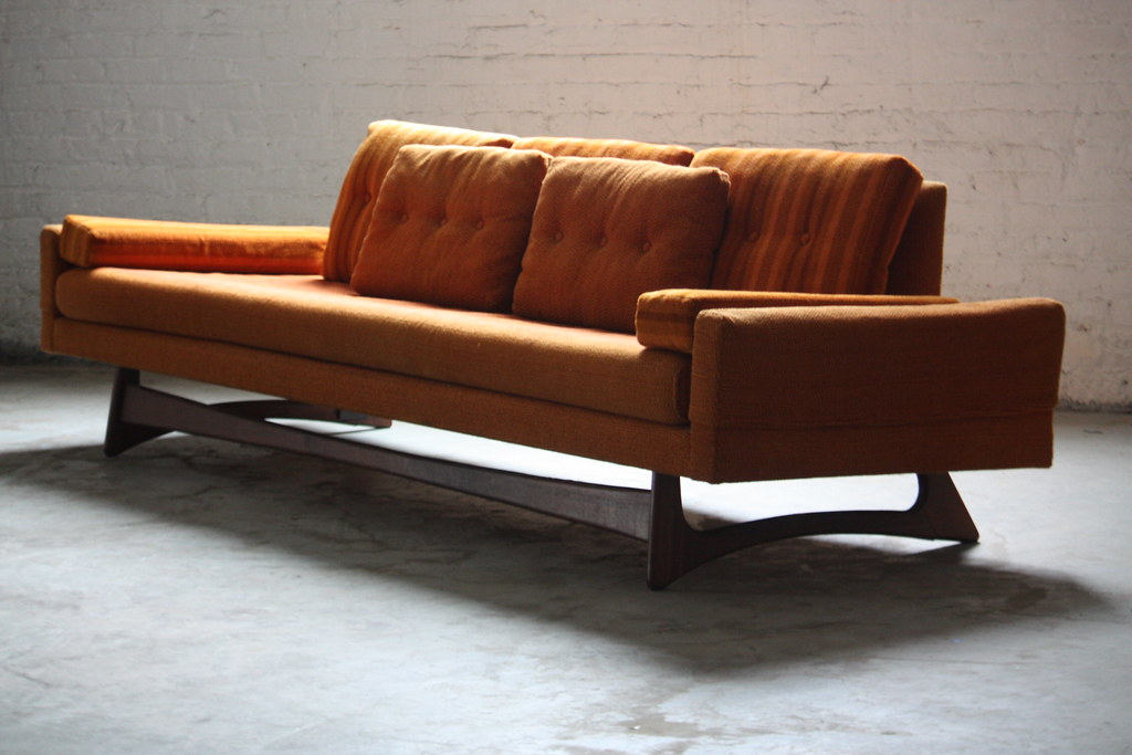... Unforgettable Adrian Pearsall Mid Century Modern Gondola Sofa Model  2408 S For Craft Associates (