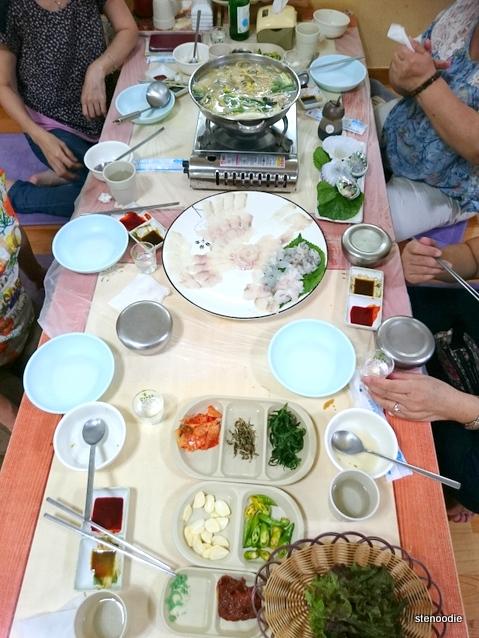 Korean seafood feast