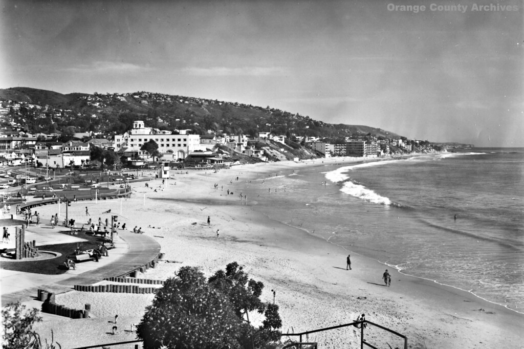 Main beach laguna beach circa 1980s by orange county archives