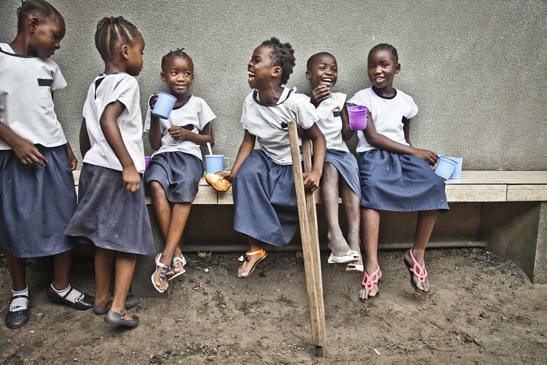Learning and laughing – Grace, 8 – Democratic Republic of Congo