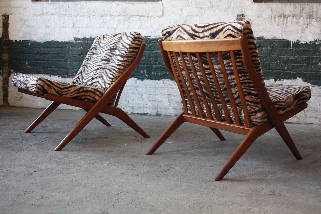Exceptional ... 1960s Hypnotic Folke Ohlsson Swedish Mid Century Modern Scissor Lounge  Chairs For Dux (Sweden, 1960s