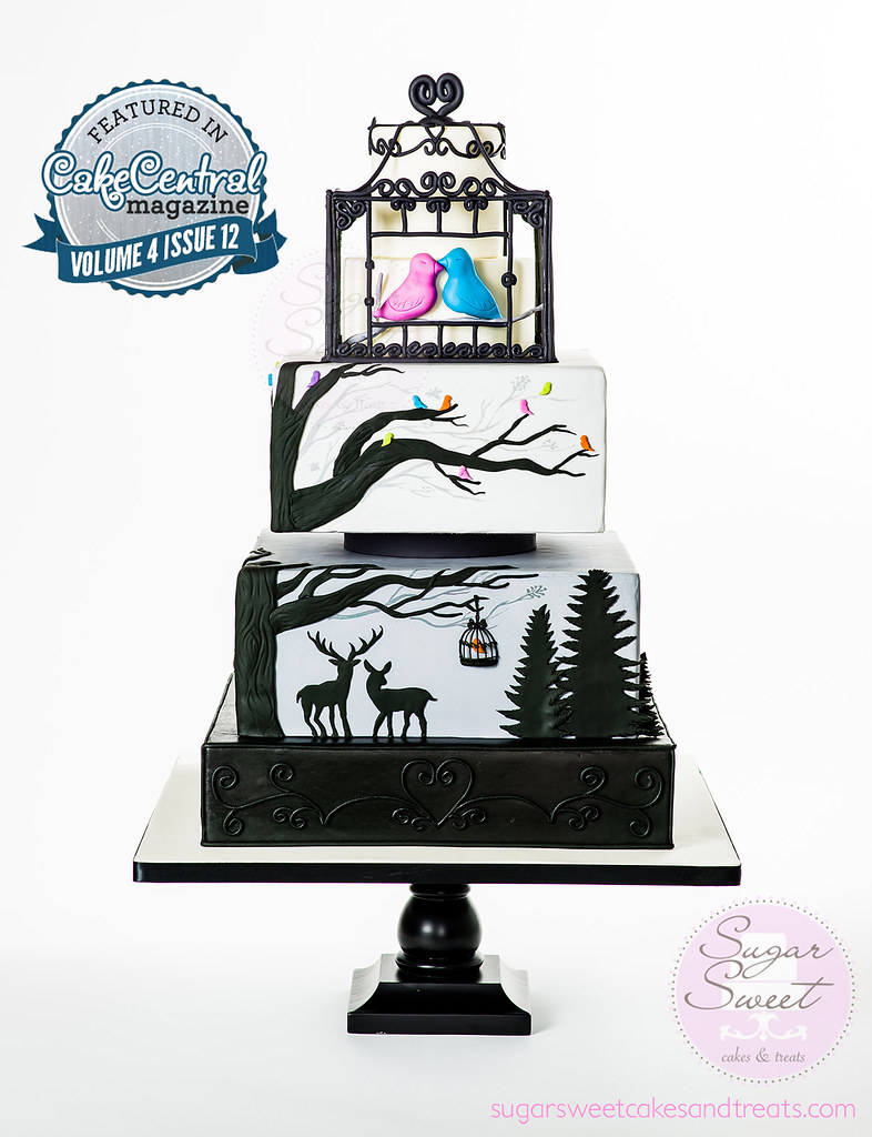 Holiday Wedding Cake - Cake Central Magazine Feature Dec20…   Flickr