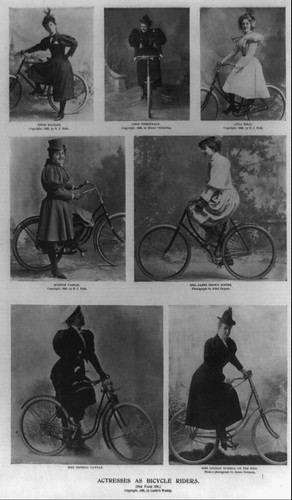 Actresses Bicycle Riders