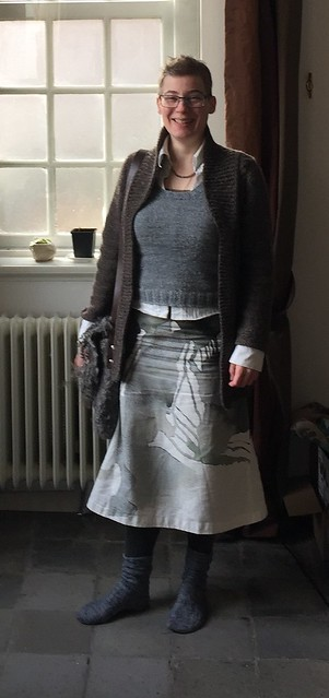 Grey handmade outfit winter
