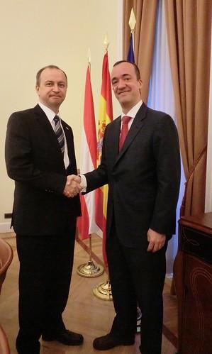 El secretario de estado de seguridad recibe al director ge for Director de seguridad ministerio del interior