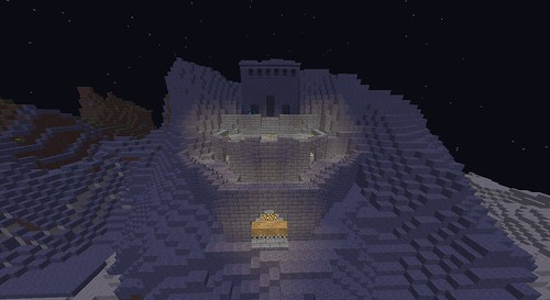 Minecraft LOTR Castle | Minecraft helmsdeep castle from ... Minecraft Lord Of The Rings Castle