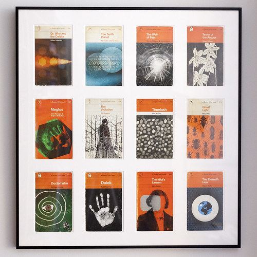 Classic Book Cover Postcards : Framed doctor who postcards coleman design these