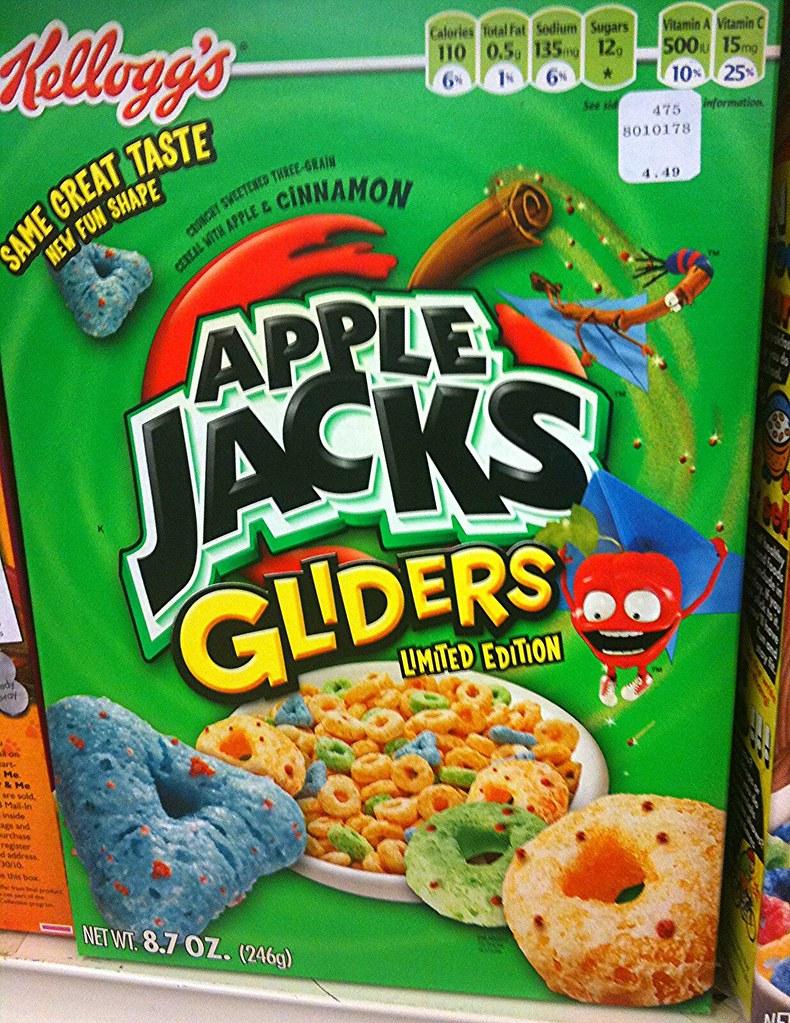 Apple Jacks Cereal Box