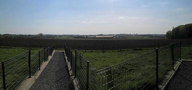Royal Engineers Memorial, Railway Wood, View Towards Ypres
