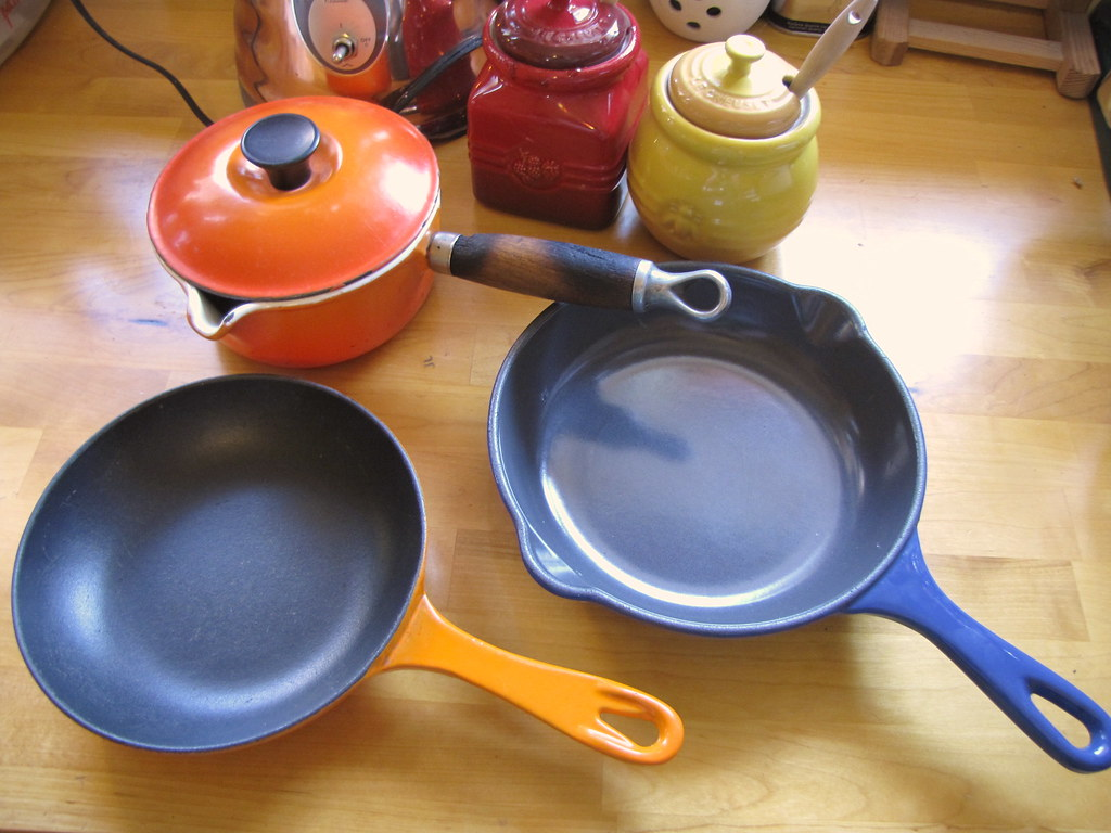 more le creuset pans through the years skillet omelet pan saucepan by - Le Creuset Skillet