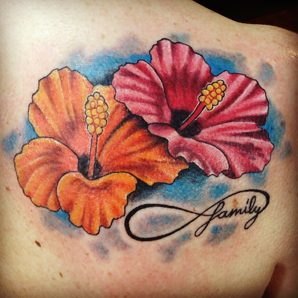 Hibiscus Flowers Custom Tattooing By Ainslie Heilich Of Vi Flickr