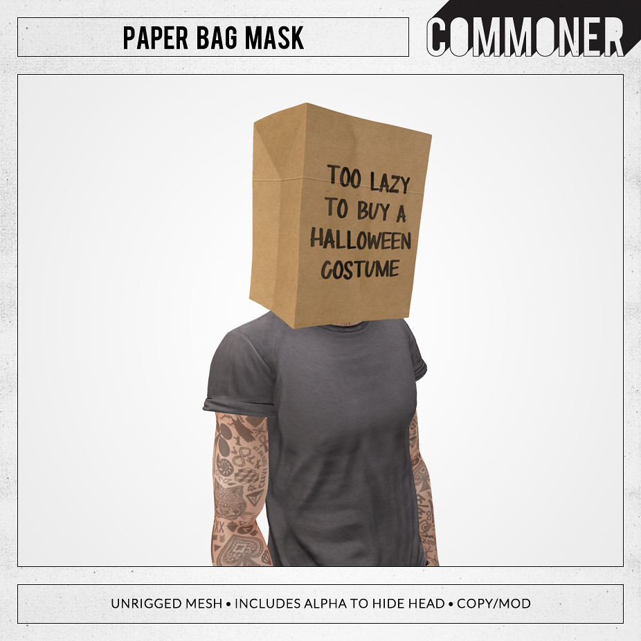 Commoner] Paper Bag Mask   A solid costume solution for the…   Flickr