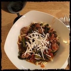 #Cavatelli with grnd #Pork + #Rapini Tomato Sauce #homemade #CucinaDelloZio -