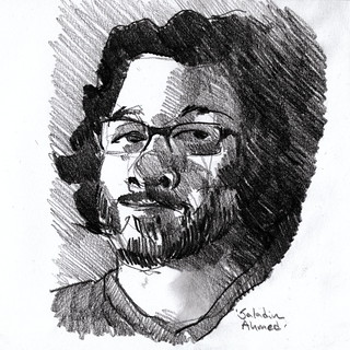 Sketch of Saladin Ahmed | by anoved