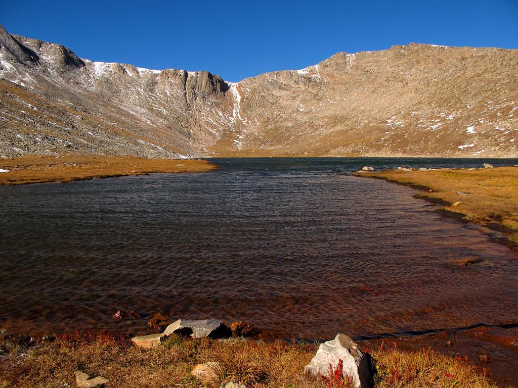 Summit Lake Below Mount Evans Colorado By Batikart