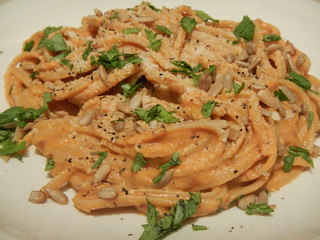 Linguine with Chipotle Pumpkin Cream Sauce | by Victoria Rothacker