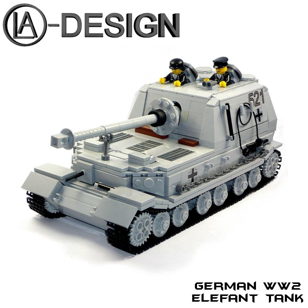 how to make a lego ww2 tiger tank