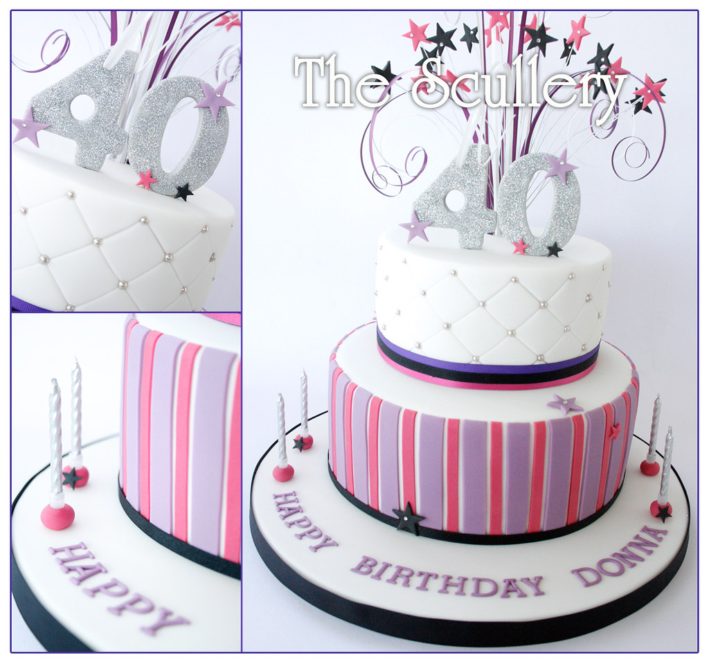 Ladies 40th Birthday Cake The Scullery Louise Flickr