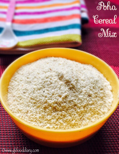 Poha Cereal Powder Recipe for Babies, Toddlers and Kids4