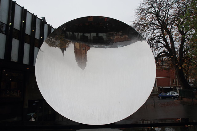 Sky Mirror outside Nottingham Playhouse
