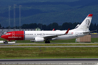B737-8Q8 LN-NOD at ENGM/OSL 30-06-2013 | by Ole Johan Beck