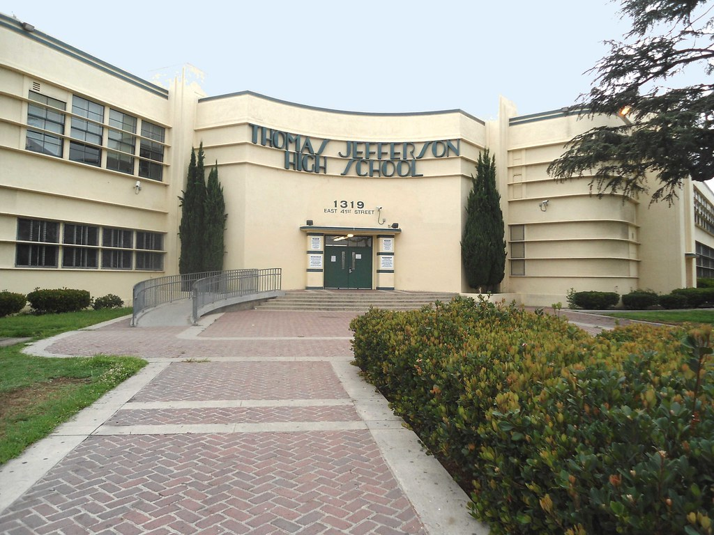 ... Thomas Jefferson High School Near Downtown Los Angeles, CA In The South  Central Area |