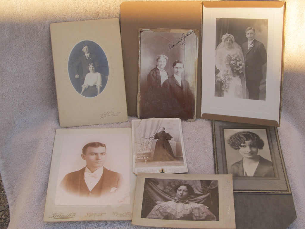 Vintage cabinet cards, men, women, and couples- early 1900… | Flickr