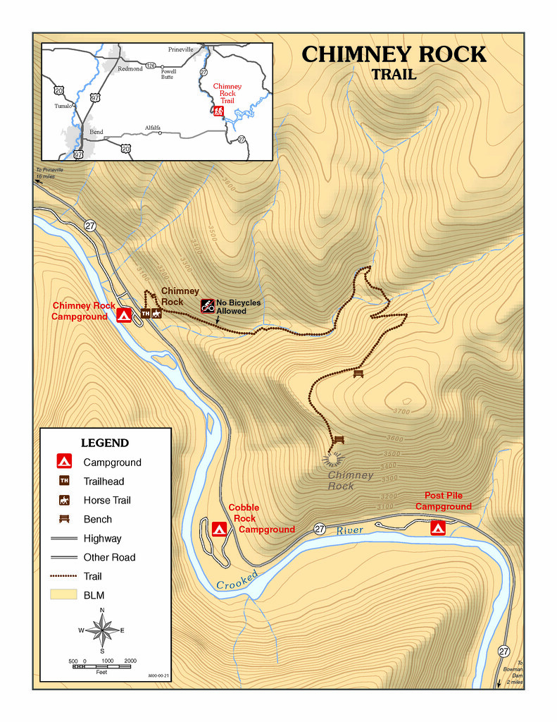 Map of Lookout Mountain Trails, courtesty of Oregon Hikers