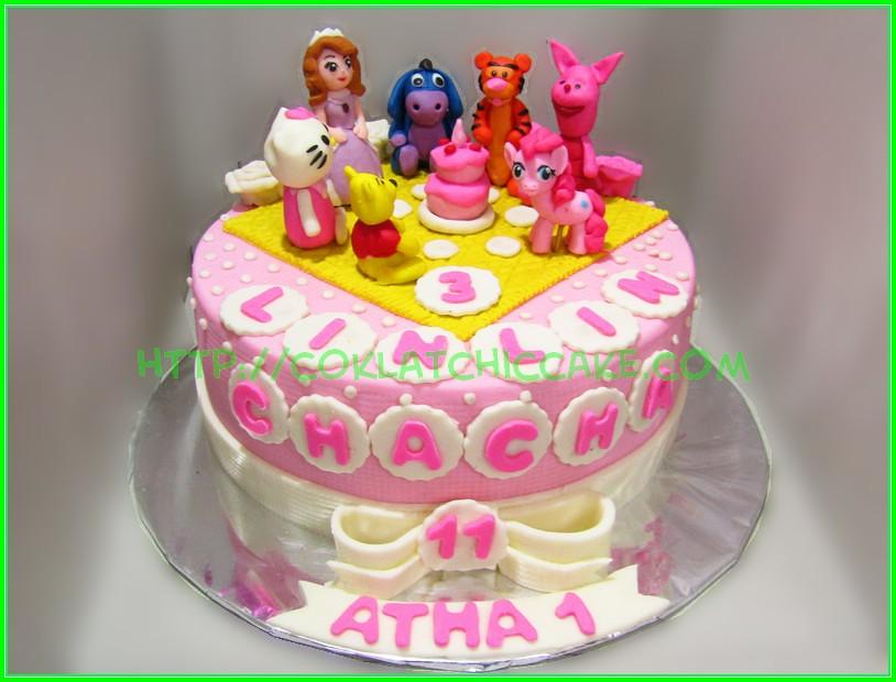 Cake Winnie The Pooh Sofia Pony Kitty