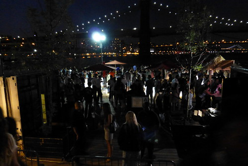 Beer Garden At South Street Seaport During The Aug 2013