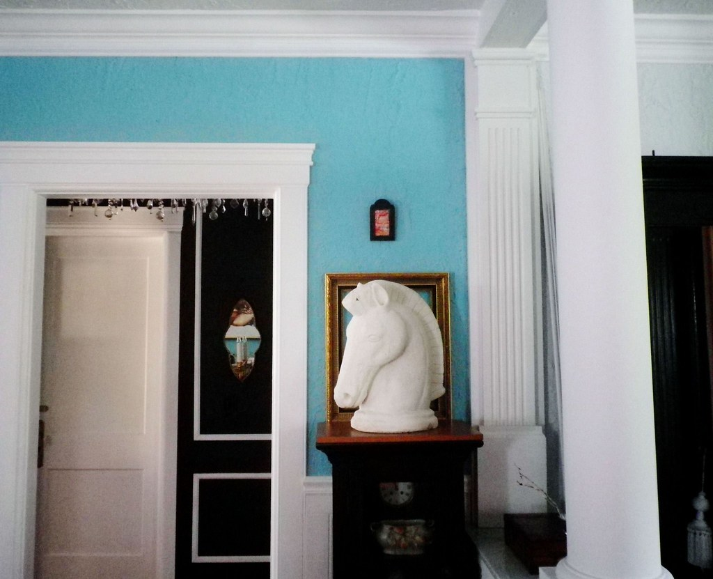 ... Tiffany Blue Dining Room / Black + White Hallway | By Sharonna Misha