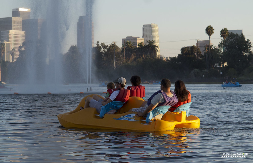 Echo park lake paddle boats