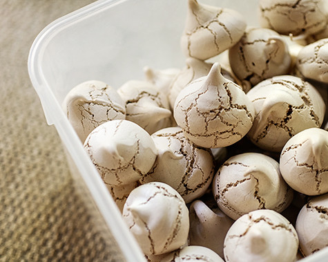 Cocoa Meringues - Box | by Elissa @ 17 and Baking