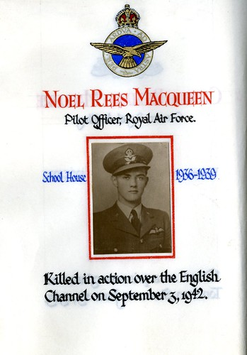 Macqueen, Noel Rees (1922-1942) | by sherborneschoolarchives