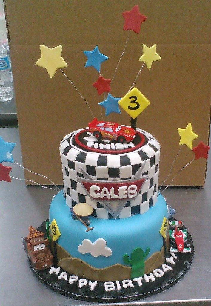 Custom modern kids creative Cars birthday cake design wit Flickr