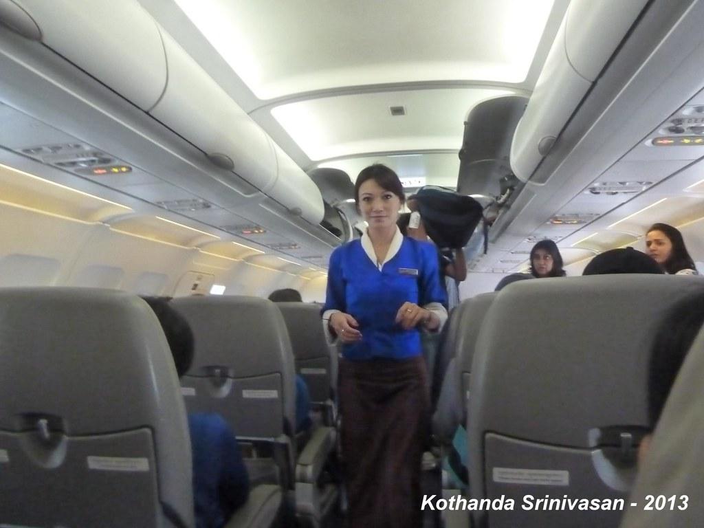 P1140336 Bhutanese Hostess In Our Druk Air Flight Bhutan O