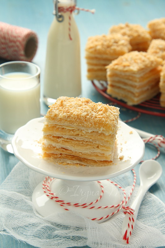 Napoleon Cake Layer Cake From Puff Pastry With Custard C Flickr