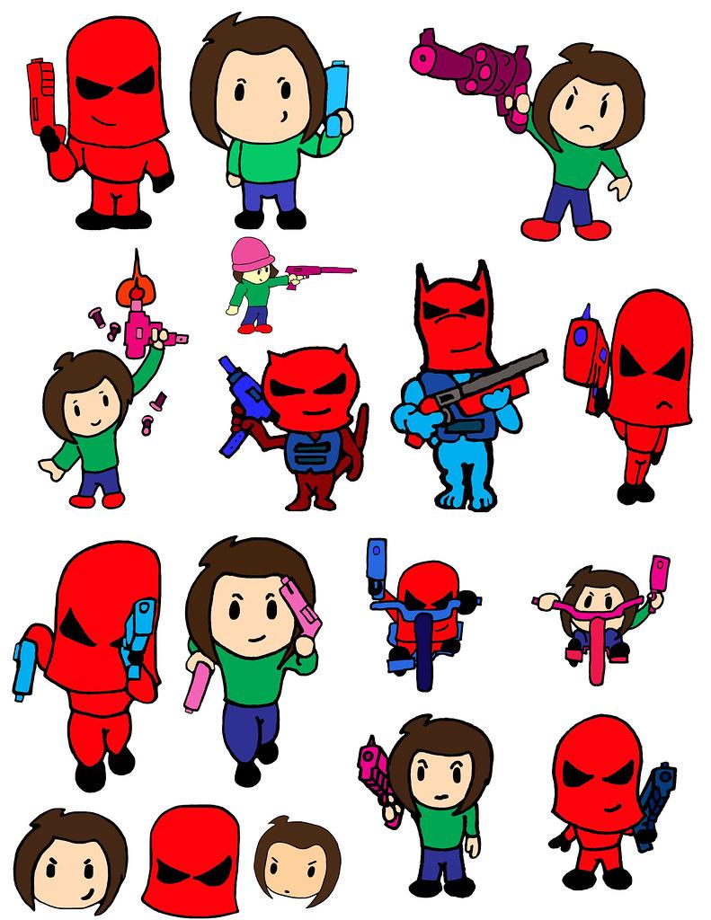 Comic book kids kodomo sd japan anime animation chibi cartoon pee wee kids gun manga b