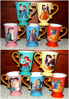 Disney Fairytale Designer Collection Mug Set All 5 Of