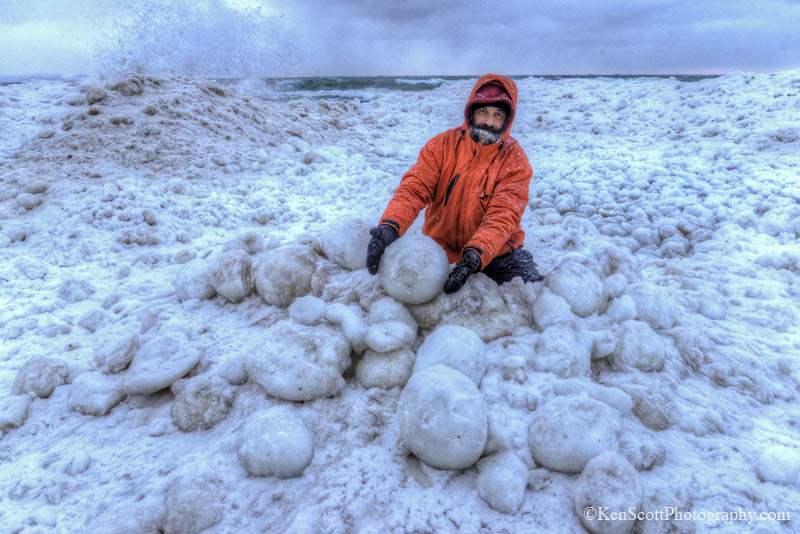 Lake Michigan ... ice balls