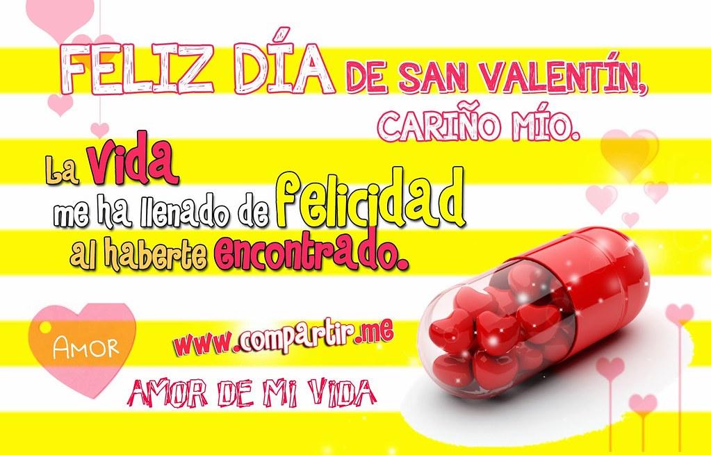 Frases De Amor Tarjeta De Feliz Dia De San Valentin Carin Flickr