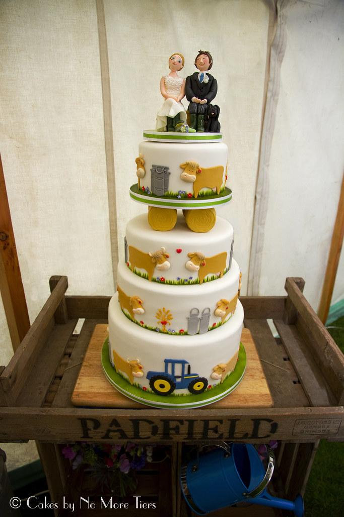 Peggy Sams Cow Farm Themed Wedding Cake Yesterdays Far Flickr