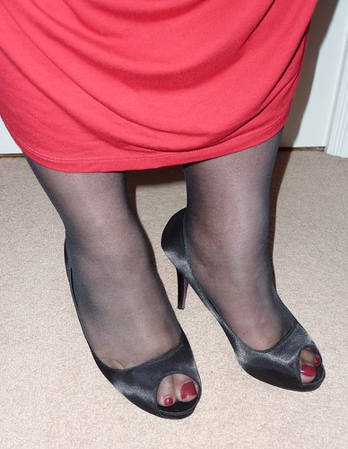 Red Painted Toes Cute