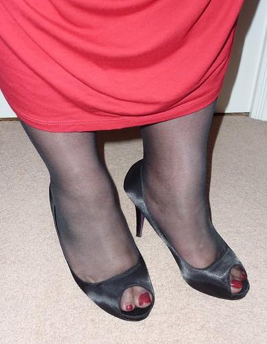 Black Peep Toe Shoe Boots