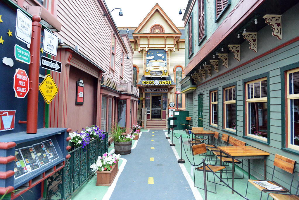Dinks Route 66 Taxi Restaurant Bar Harbor Maine Bar Harb Flickr
