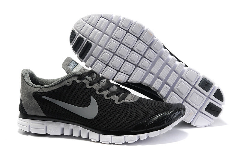 brand new 6ca04 25fb8 ... Nike Homme Free 3.0 V2 Grand Net Chaussures Noire Grises -www.vendrefree.com