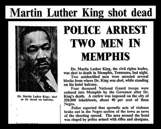 4th April 1968 - Martin Luther King assassinated | by Bradford Timeline