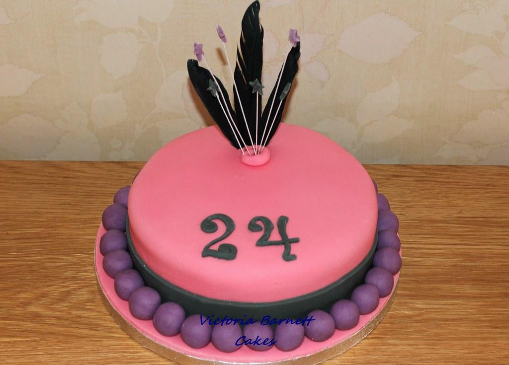 24th Birthday Cake Victoria Barnett Flickr